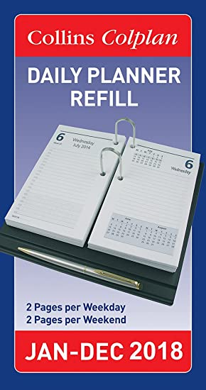 Amazon.com : Collins Colplan Daily Desk Diary Planner Refill ...