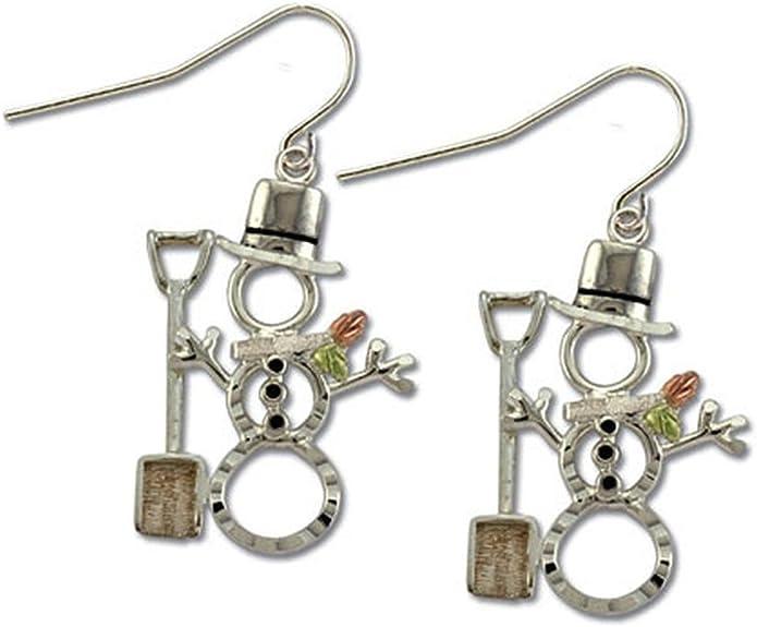 for Pierced Ears MRL01757 Landstroms Black Hills Silver Cowboy Boot Earrings