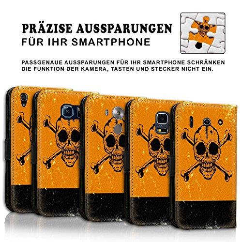Wallet Book Style Flip Handy Tasche Case Schutz Hülle Schale Motiv Etui für Apple iPhone 4 / 4S - Design Flip MVD285