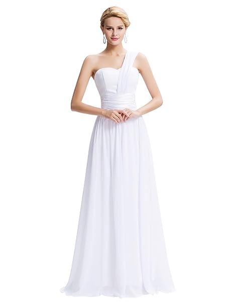 Quissmoda vestido novia largo fiesta, noche, gala, talla 34, color blanco