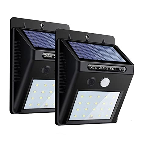Lampade Solari Da Giardino Amazon.Zeefo Confezione 2 Lampade Solari Da Esterno 20 Led 3 Modalita Sensore Di Movimento Lampade Con Illuminazione Grandangolare Luci Wireless Di