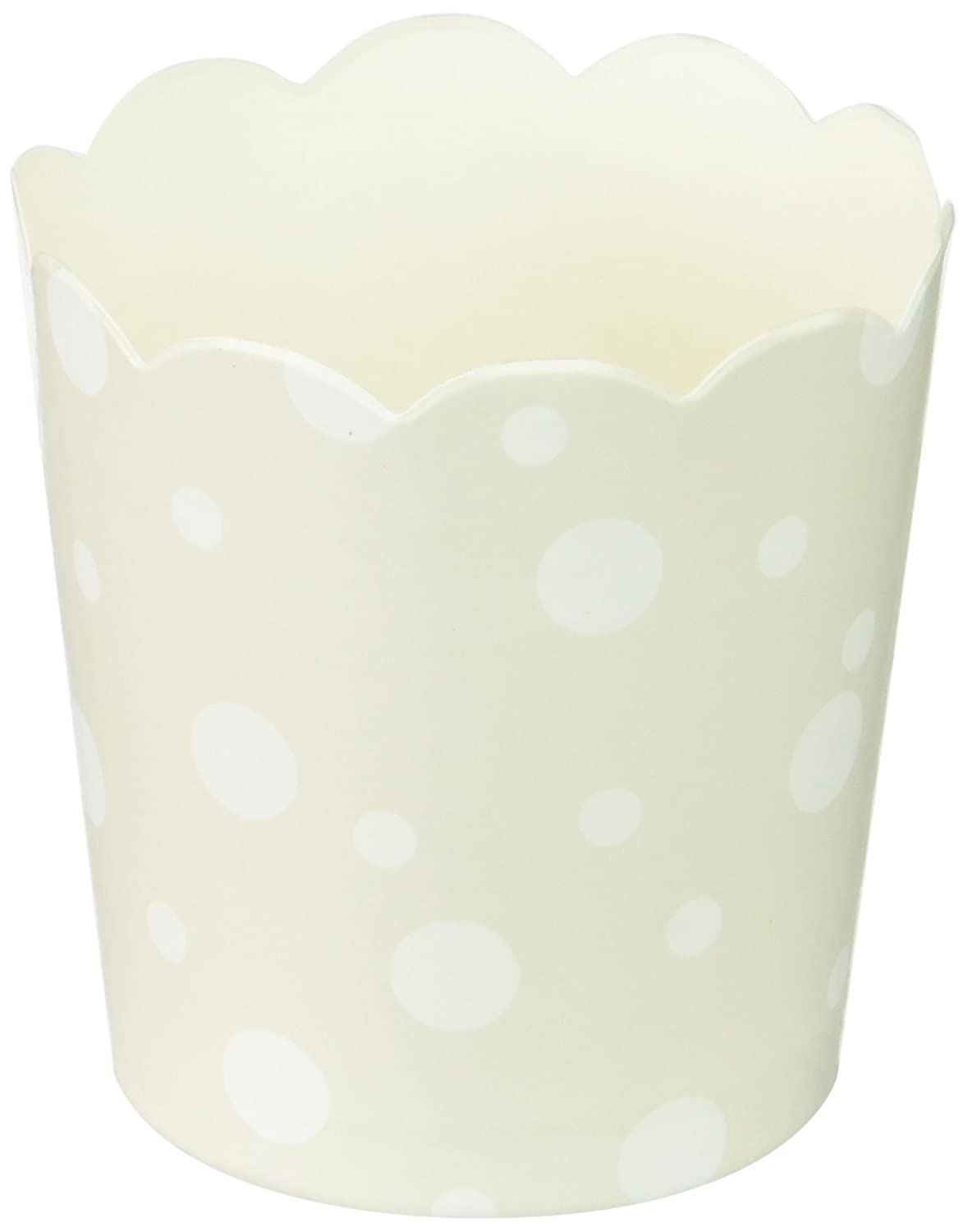 Simply Baked Petite Paper Baking Cups Pearl & White Dots 20-Pack Disposable and Oven-safe