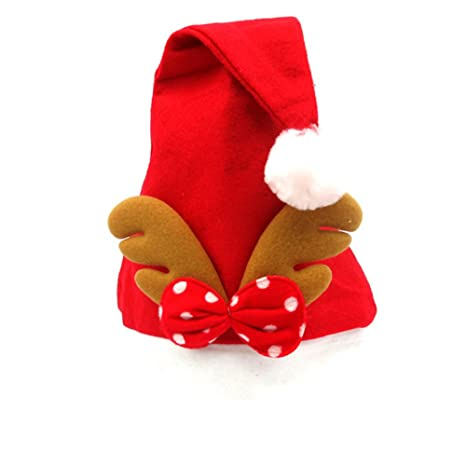Cdet Sombrero de papá noel niño adulto adornos navideños sombrero clásico  de Navidad suministros para fiestas 40409dfb5ce