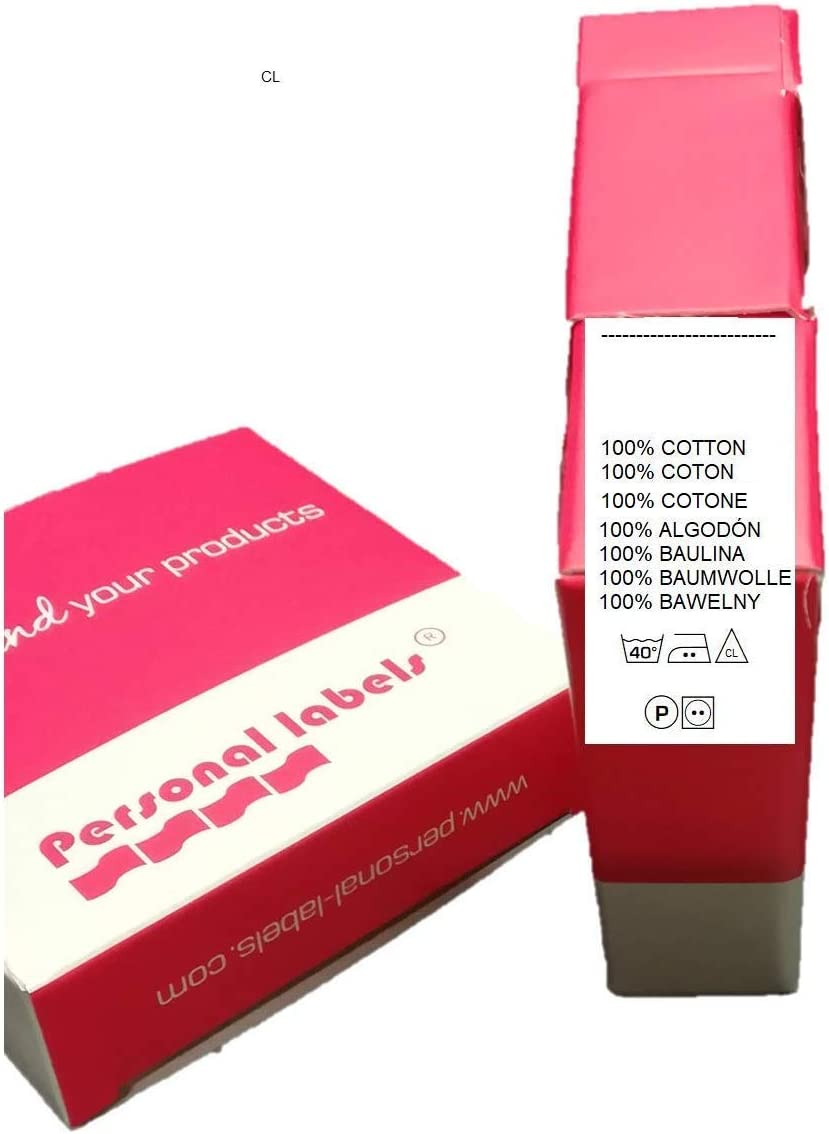 100 etiquetas de composición-Care labels 100% Algodón -Cotton ...