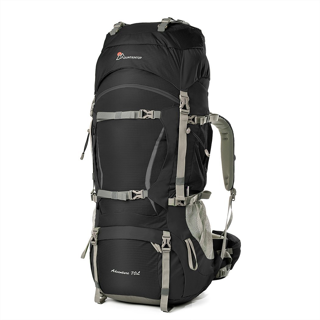a8b32dea1b Details about Mountaintop 70L+10L Outdoor Sport Water-Resistant Internal  Frame Backpack