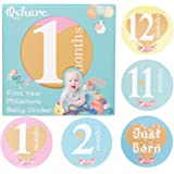 Baby Monthly Stickers,SS SHOVAN 22 Baby Milestone Cards /& Keepsake Box for Babys Girl//Boy Reuasble and DIY Monthly Baby Stickers Gift for Newborn Baby Shower,Expecting Mom,or Scrapbook Photo Keepsake