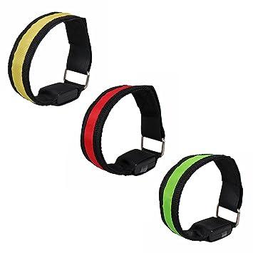 battery Not Included Blue Led Safety Reflective Belt Strap Snap Wrap Arm Band Armband Running Bracelet