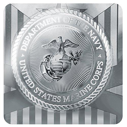 オートバイ自転車バイクタイヤリムホイールアルミバルブステムキャップ - イエローブラックイエローレッドUSMC海兵隊のエンブレム公認
