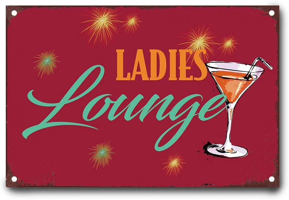 Wendana Ladies Lounge Metal Signs Vintage Tin Sign Poster Decoration Wall Plaque 8 X12 For Women Posters Prints
