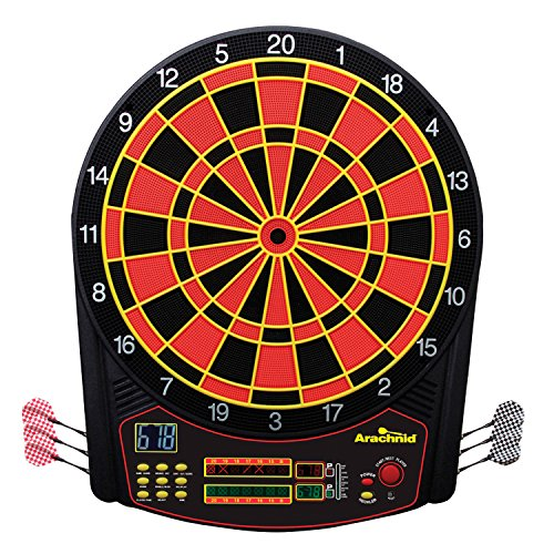 Arachnid Cricket Pro 450 Electronic Dartboard Features 31 Games with 178 Variations and Includes Two Sets of Soft Tip Darts