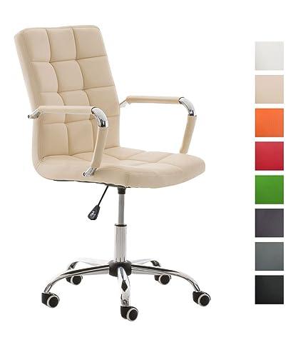 CLP Silla de Oficina Deli V2 con tapizado de Cuero Sintético | Silla ...