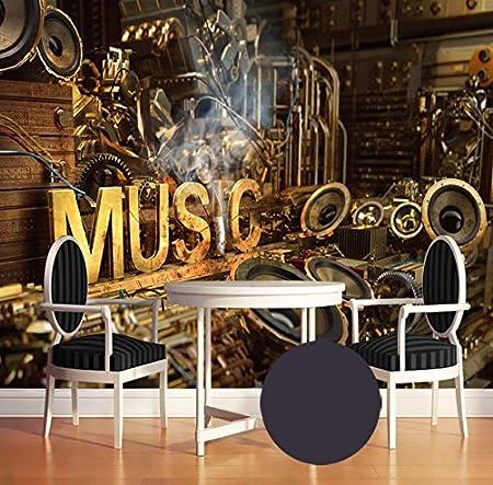 Kuamai Fototapete 3d Europaischen Stil Retro Musik Tapete Ktv Cafe