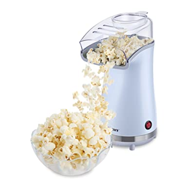 Excelvan Hot Air Popcorn Popper Electric Machine Maker 16 Cups of Popcorn, with Measuring Cup and Removable Lid (White)