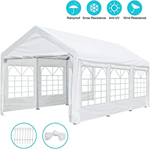 Amazon.com: 10 x 20 ft Heavy Duty Carport Canopy Car