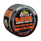 T-REX Ferociously Strong Duct Tape Extra Wide Roll, 2.83 in. x 30 yd., Dark Gunmetal Gray (241358)