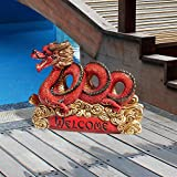 Design Toscano Asian Zen Dragon Garden Welcome Statue For Sale