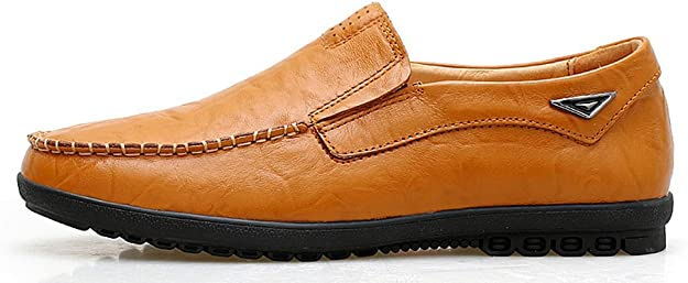 Amazon.com: VanciLin - Mocasines de piel para hombre: Shoes