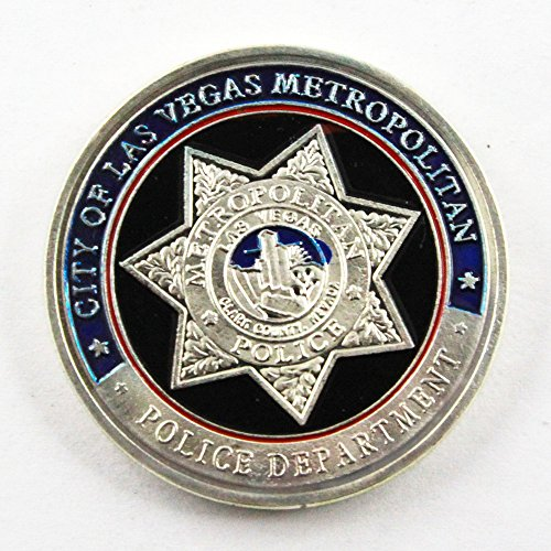 Art Crafter US lvmpd Police Department LAS VEGAS METROPOLITAN Challenge Coin Badge (Vegas Badge)