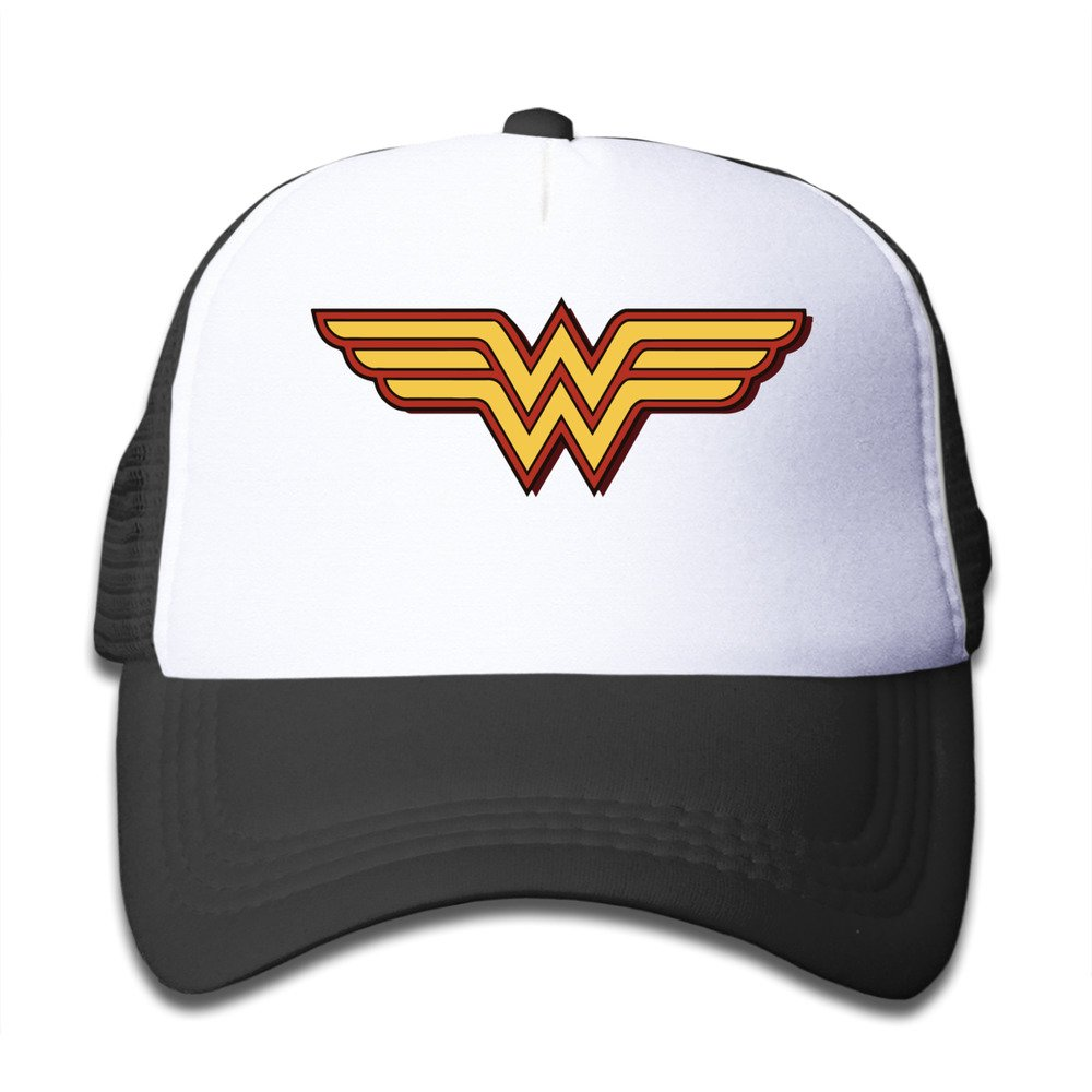 c6de790ffdf CUG Wonder Woman Gal Gadot Black Toddler Snapback Adjustable Mesh Hat  Apparel