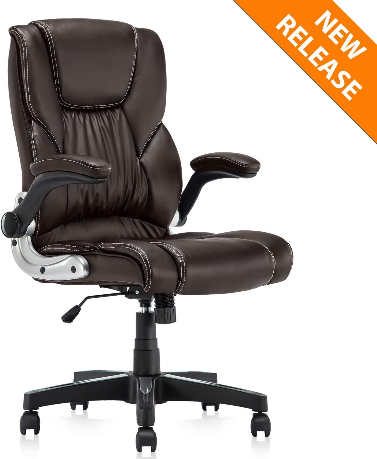 PU Leather Computer Office Chair Adjustable High Armchair Desk Chair Guest Chair