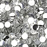 "100% Custom Made (5mm) 1000 Bulk Pieces of Mini Size ""Glue-On"" Flatback Embellishments for Decorating, Made of Acrylic Resin w/ Shiny Iridescent Crafting Gem Stone Rhinestone Crystal Style {Clear}"
