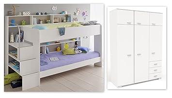 Etagenbett Doppelstockbett Günstig : Expendio kinderzimmer twin weiß etagenbett doppelstockbett
