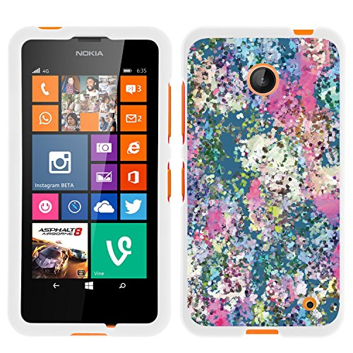 Lumia 635, Slim Hard Shell Snap On Case with Custom Images for Nokia Lumia 635 (AT&T, Sprint, T Mobile, Virgin Mobile, Boost Mobile, MetroPCS) from MINITURTLE | Includes Clear Screen Protector and Stylus Pen - Ice Cream Delights