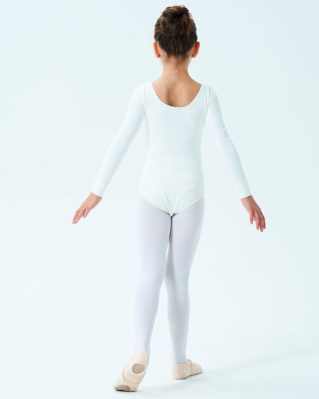 Multiple Colors 2T-14 Years Finihen Girls Leotard Basic Long Sleeve Ballet Dance Leotard