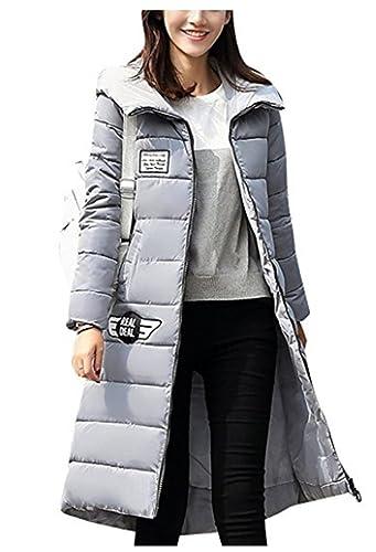 YOGLY Abrigos de Mujer Invierno Chaquetas con Capucha Abajo Abrigo de Mujer Largo Chaquetas Plumas O...