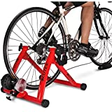 Deuter CyberM0nday Price Bike Trainer, Magnetic Bicycle Stationary Stand for Indoor Exercise Riding, Portable, Quick Release Skewer & Front Wheel Riser Block Included