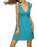 HARHAY Women's Sleeveless V-neck Summer Sun Dress