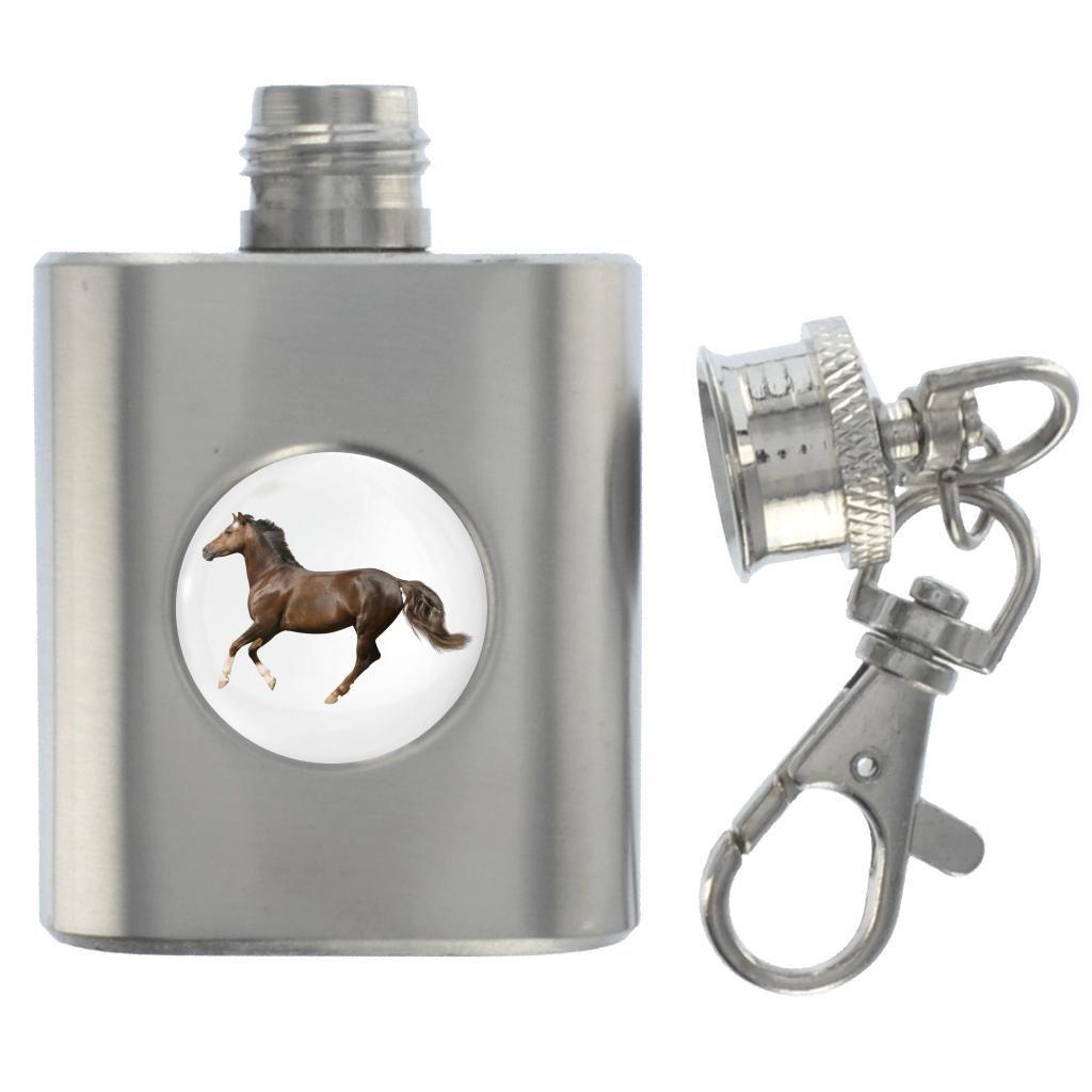 最新作 馬のイメージデザイン ミニチュアブラシスチール1オンスフラスコキーリング B01EX4F1VQ B01EX4F1VQ, てんこ盛り!:5262dbf4 --- 4x4.lt