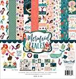 Echo Park Paper Company MET154016 This Mermaid Tales Collection Kit, Teal, Coral, Purple, Sea Foam, Sand, Teal