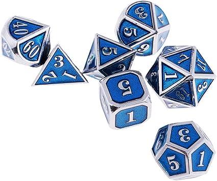 sharprepublic 7-Die Aleación De Zinc RPG MTG Juego De Mesa Dados para Mazmorras Y Dragones DND - #3: Amazon.es: Juguetes y juegos