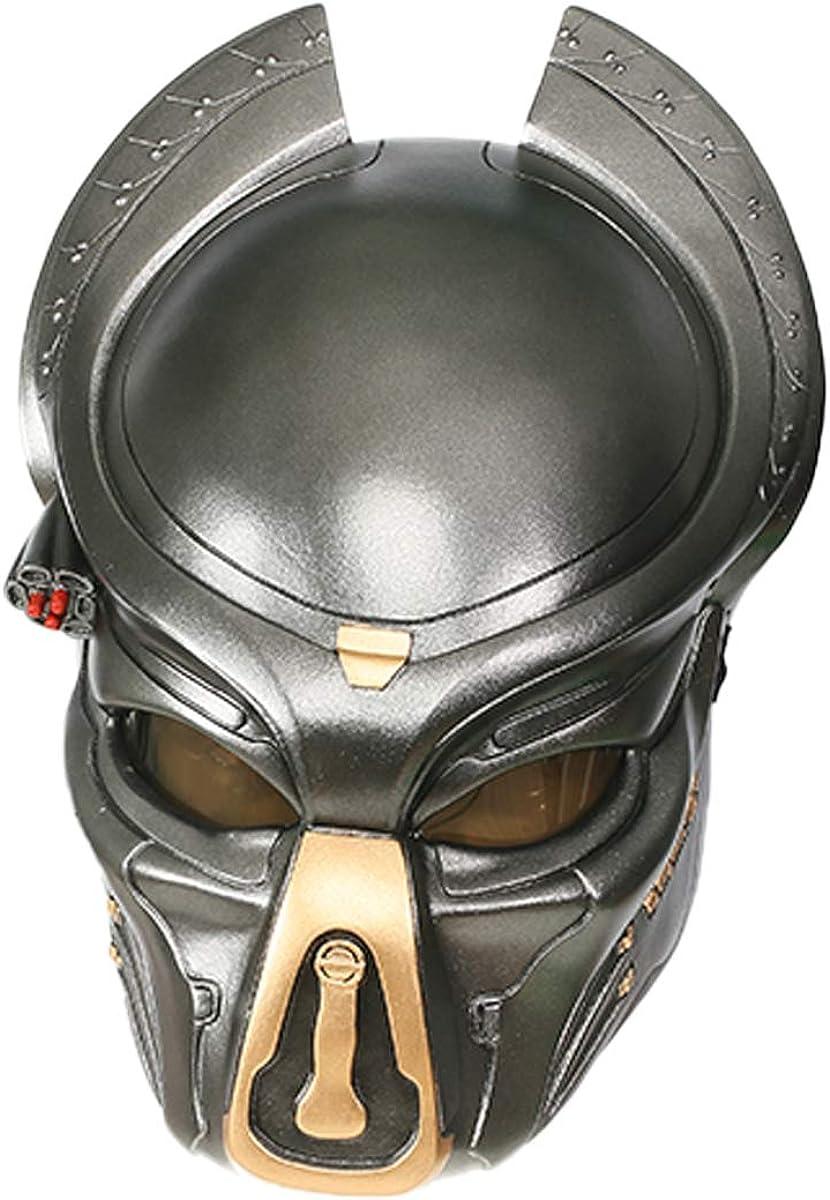 Mesky EU Disfraz Predator Máscara Helmet Con LED/Peluca Resina ...