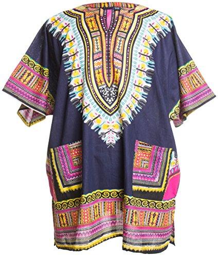 Ragstock Traditional African Print Unisex Dashiki, - 70s Items