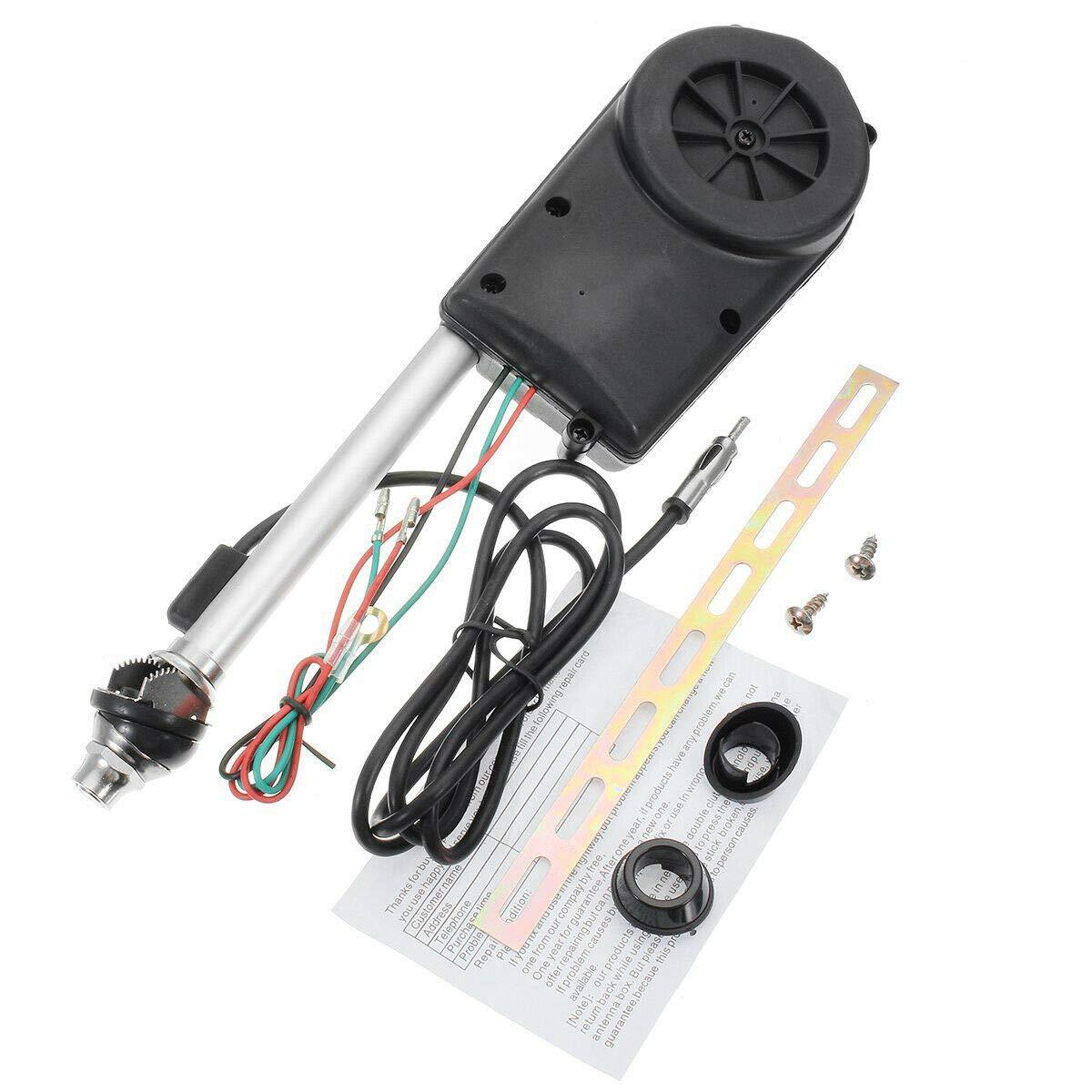 MASO Kit de montaje de antena el/éctrica para radio FM AM para coche