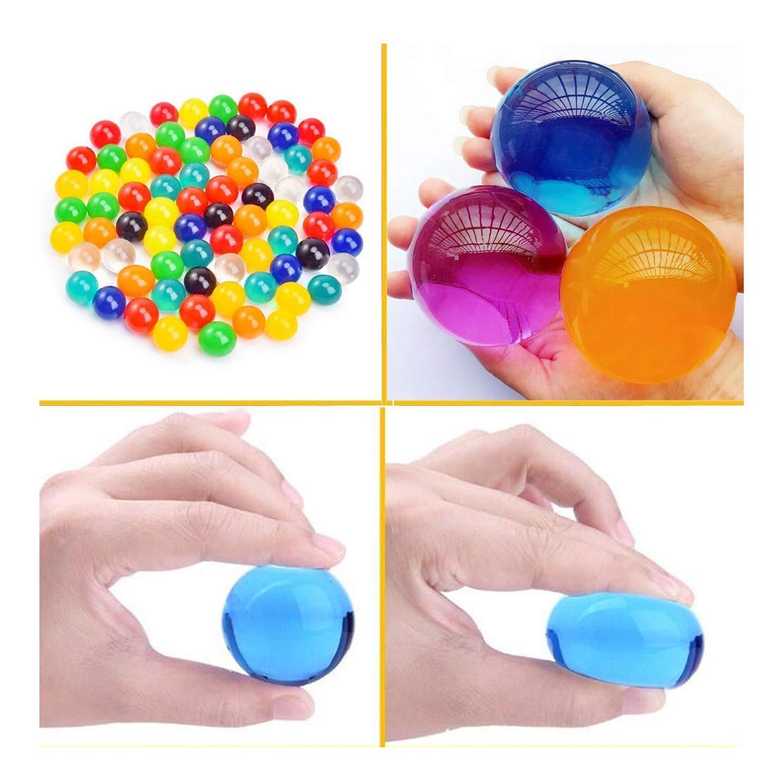AINOLWAY Large Water Gel Beads 3 Oz Pack, Growing Water Balls Jelly Crystal for Kids Tactile Toy and Vase Filler MS-WB17224