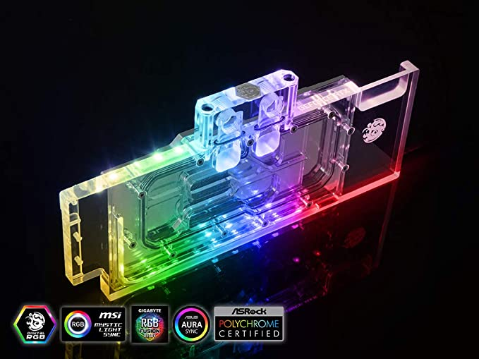 Amazon.com: Bitspower GPU Waterblock for NVIDIA GeForce RTX 2080Ti / 2080 Reference Cards: Computers & Accessories
