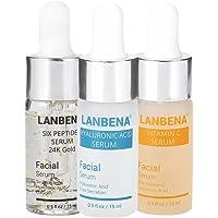 3 i 1 Hyaluronsyra Serum & C vitamin Serum & Sex peptider Serum, 24k guld Anti-aging Whitening Moisturize Firming Skin…