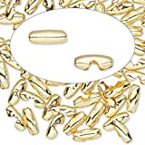 Ball chain connector gold-plated brass 9x3mm fits 2.4mm ball chain