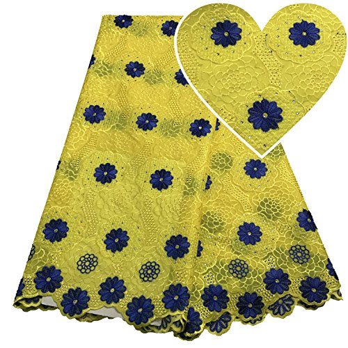 Yellow Swiss Voile Lace Fabric Wedding Dress Nigeria Lace Women Cotton African Lace Fabric Party