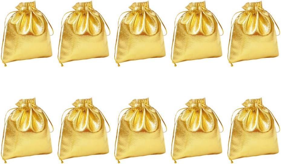 Golden TOYANDONA Schmuckbeutel S/äckchen Kordelzug Beutel Geschenk Taschen Candy Taschen f/ür Hochzeit Geburtstag Party 7x9cm 50 St/ück
