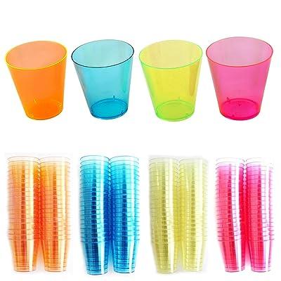 160pièces Verres à shot jetables plastique Contenance de 2cl, Transparente Plastique PP, idéal pour les fêtes pour piscine, barre de scènes, les pique-niques, les repas et autres