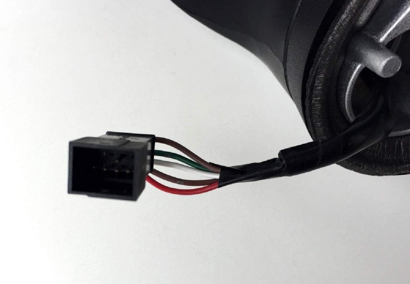 No El/éctrico Plegable Retrovisor Exterior Derecho Imprimado pro Carpentis Compatible Con Ibiza IV Desde A/ño 03//2008 Hasta 02//2017 Cristal de Retrovisor Es Calentado El/éctricamente
