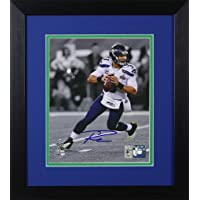$259 » Russell Wilson Autographed Seahawks Photo - Beautifully Matted and Framed - Hand Signed By Russell Wilson and Certified Authentic by Wilson…