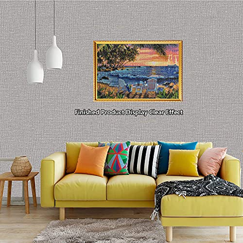Beach Diamond Painting,Beach Diamond Art Sunset,Diamond Painting Beach,Perfect for Home Wall Decoration 12x16inch
