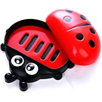 Baal Lady Bug Soap Box, Soap Box for Kids, Funky Soap Dish Soap Box, Pack of 1 (Red)
