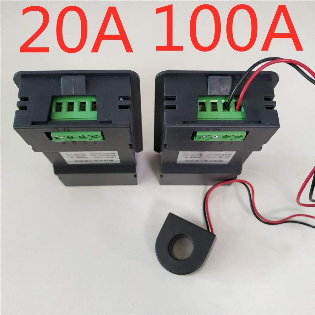 20A KETOTEK Amp/èrem/ètre Num/érique 20A Testeur de Tension Wattm/ètres Multim/ètre 220V 110V ~ 250V Wattm/ètre Voltm/ètre Volt Amp LCD Testeur de voltm/ètre