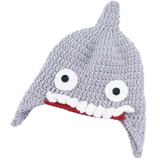 Image Unavailable. Image not available for. Color  Doannotium Baby Hat Cute  Shark ... 1e2490cc3877